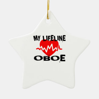 MY LIFE LINE OBOE MUSIC DESIGNS CERAMIC ORNAMENT