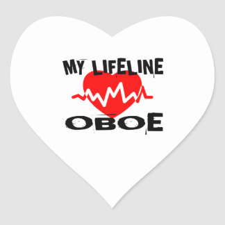 MY LIFE LINE OBOE MUSIC DESIGNS HEART STICKER