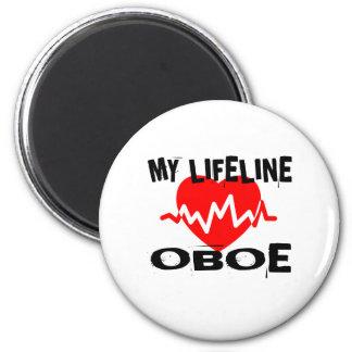 MY LIFE LINE OBOE MUSIC DESIGNS MAGNET
