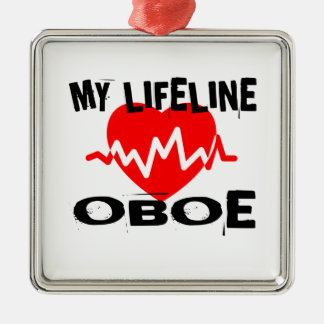 MY LIFE LINE OBOE MUSIC DESIGNS METAL ORNAMENT