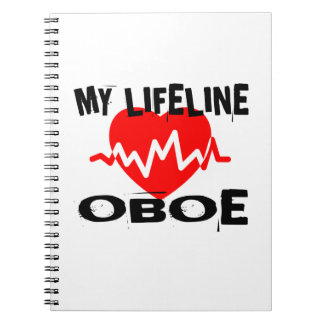 MY LIFE LINE OBOE MUSIC DESIGNS NOTEBOOK