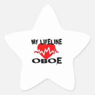 MY LIFE LINE OBOE MUSIC DESIGNS STAR STICKER