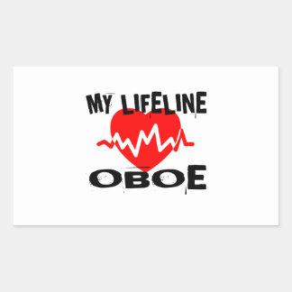 MY LIFE LINE OBOE MUSIC DESIGNS STICKER