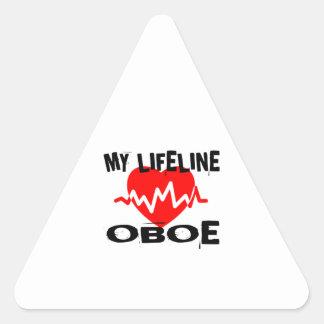 MY LIFE LINE OBOE MUSIC DESIGNS TRIANGLE STICKER