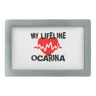 MY LIFE LINE OCARINA MUSIC DESIGNS BELT BUCKLES