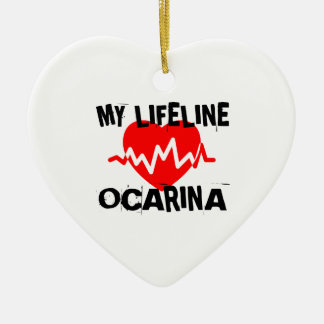 MY LIFE LINE OCARINA MUSIC DESIGNS CERAMIC ORNAMENT