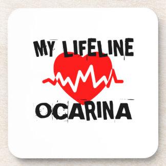 MY LIFE LINE OCARINA MUSIC DESIGNS COASTER
