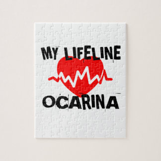 MY LIFE LINE OCARINA MUSIC DESIGNS JIGSAW PUZZLE