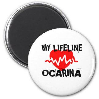 MY LIFE LINE OCARINA MUSIC DESIGNS MAGNET