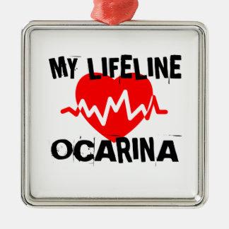 MY LIFE LINE OCARINA MUSIC DESIGNS METAL ORNAMENT