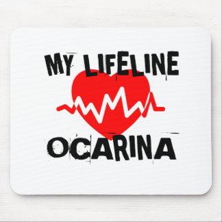 MY LIFE LINE OCARINA MUSIC DESIGNS MOUSE PAD