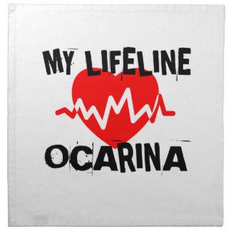 MY LIFE LINE OCARINA MUSIC DESIGNS NAPKIN