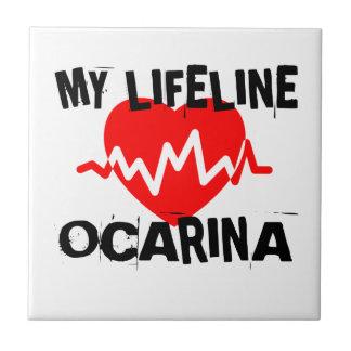 MY LIFE LINE OCARINA MUSIC DESIGNS TILE