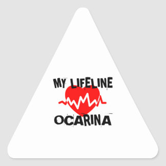 MY LIFE LINE OCARINA MUSIC DESIGNS TRIANGLE STICKER