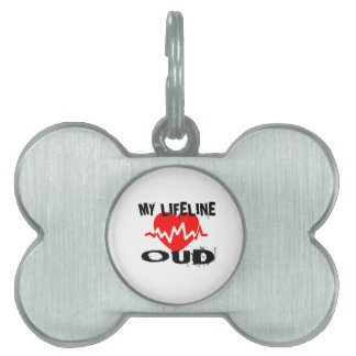 MY LIFE LINE OUD MUSIC DESIGNS PET TAG