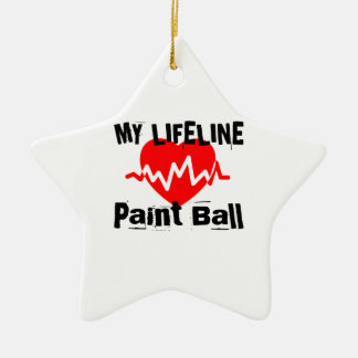 My Life Line Paint Ball Sports Designs Ceramic Ornament