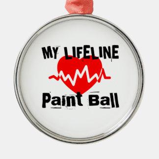 My Life Line Paint Ball Sports Designs Metal Ornament