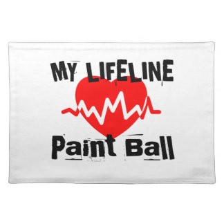 My Life Line Paint Ball Sports Designs Placemat