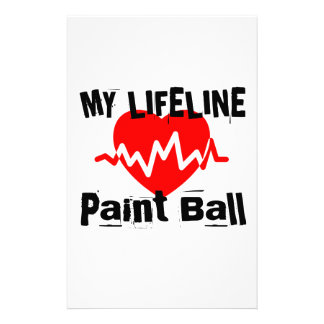 My Life Line Paint Ball Sports Designs Stationery