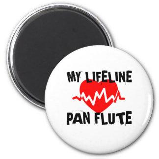 MY LIFE LINE PAN FLUTE MUSIC DESIGNS MAGNET