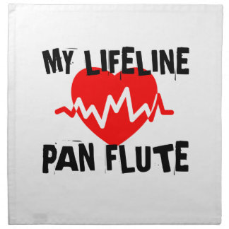 MY LIFE LINE PAN FLUTE MUSIC DESIGNS NAPKIN