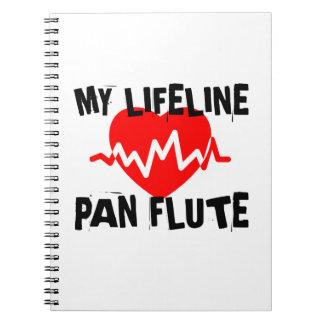 MY LIFE LINE PAN FLUTE MUSIC DESIGNS NOTEBOOK