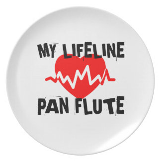 MY LIFE LINE PAN FLUTE MUSIC DESIGNS PLATE