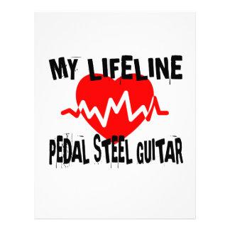 MY LIFE LINE PEDAL STEEL GUITAR MUSIC DESIGNS LETTERHEAD