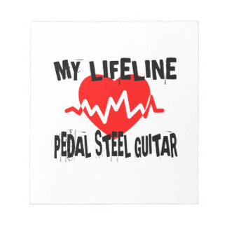 MY LIFE LINE PEDAL STEEL GUITAR MUSIC DESIGNS NOTEPAD