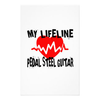 MY LIFE LINE PEDAL STEEL GUITAR MUSIC DESIGNS STATIONERY