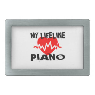 MY LIFE LINE PIANO MUSIC DESIGNS BELT BUCKLES