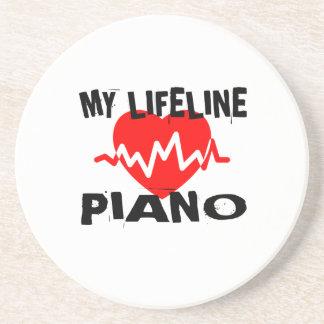 MY LIFE LINE PIANO MUSIC DESIGNS COASTER