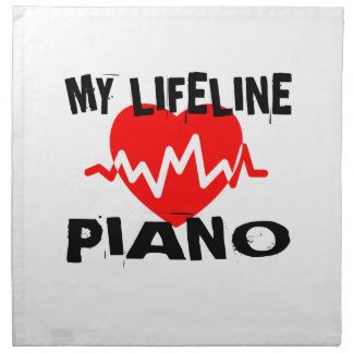 MY LIFE LINE PIANO MUSIC DESIGNS NAPKIN