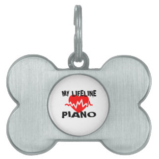 MY LIFE LINE PIANO MUSIC DESIGNS PET TAG