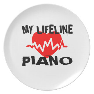 MY LIFE LINE PIANO MUSIC DESIGNS PLATE