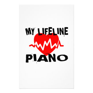 MY LIFE LINE PIANO MUSIC DESIGNS STATIONERY