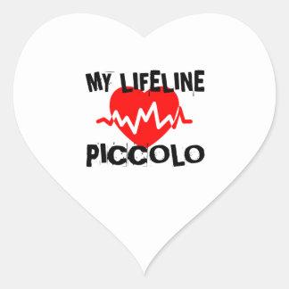 MY LIFE LINE PICCOLO MUSIC DESIGNS HEART STICKER