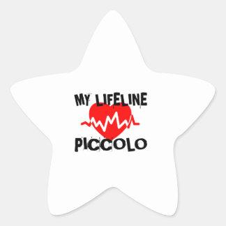 MY LIFE LINE PICCOLO MUSIC DESIGNS STAR STICKER