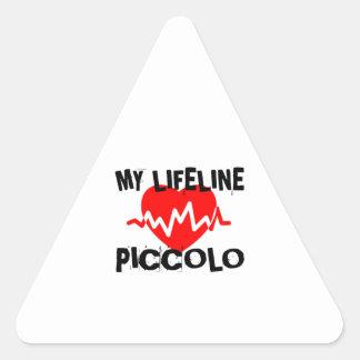 MY LIFE LINE PICCOLO MUSIC DESIGNS TRIANGLE STICKER