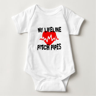 MY LIFE LINE PITCH PIPES MUSIC DESIGNS BABY BODYSUIT
