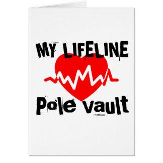 My Life Line Pole vault Sports Designs Card