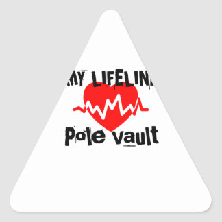 My Life Line Pole vault Sports Designs Triangle Sticker