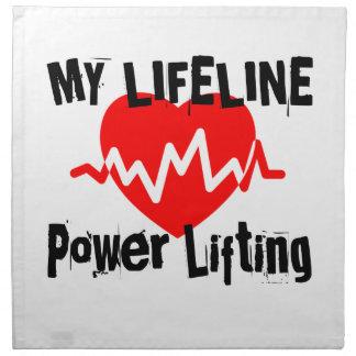 My Life Line Power Lifting Sports Designs Napkin
