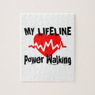 My Life Line Power Walking Sports Designs Jigsaw Puzzle