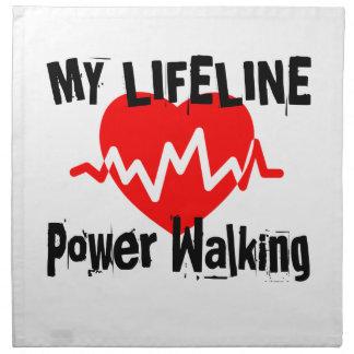 My Life Line Power Walking Sports Designs Napkin