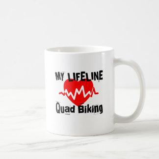 My Life Line Quad Biking Sports Designs Coffee Mug