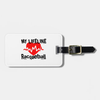 My Life Line Racquetball Sports Designs Luggage Tag