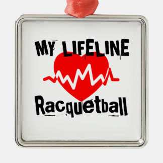 My Life Line Racquetball Sports Designs Metal Ornament