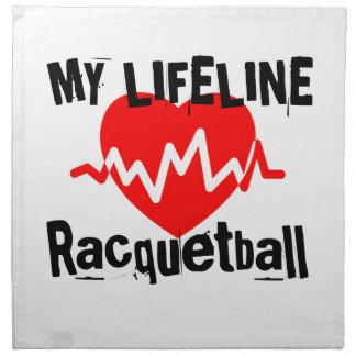 My Life Line Racquetball Sports Designs Napkin