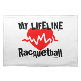 My Life Line Racquetball Sports Designs Placemat